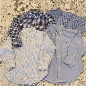 Lot of 4 Classic blue polo button downs